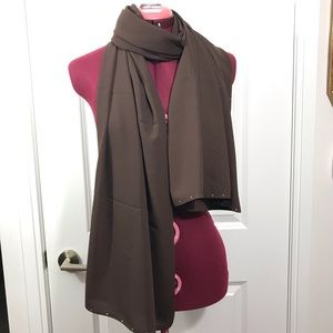 Brown Long Scarf